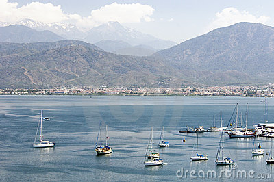 Fethiye Bay in southern Turkey