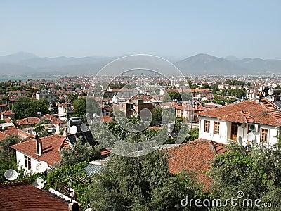 Fethiye town view, turkey