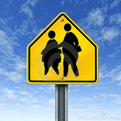 Fett lurar den obese skolateckengatan