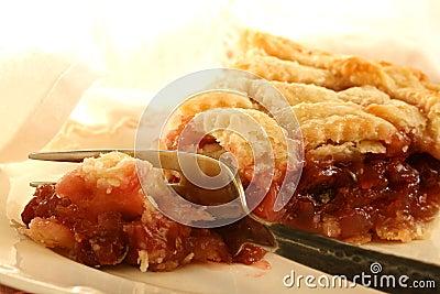 Fetta del grafico a torta della ciliegia