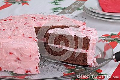 Fetta del servizio di torta