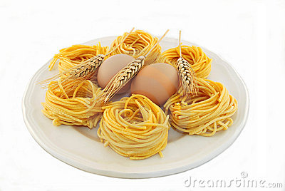 Fettuccine all  egg and wheat ears