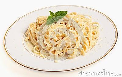 Fettucine all Afredo plate