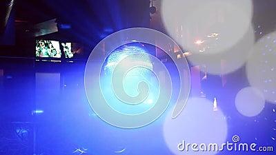 Feu disco nocturne privé en or lumière amusante installée au pub et dans les bars clips vidéos