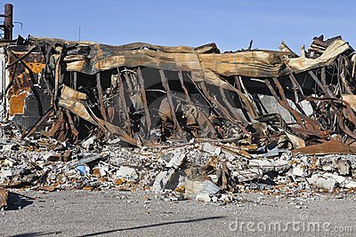 Feuer-Ruine