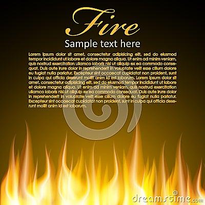 Feuerhintergrund für Ihren Entwurf