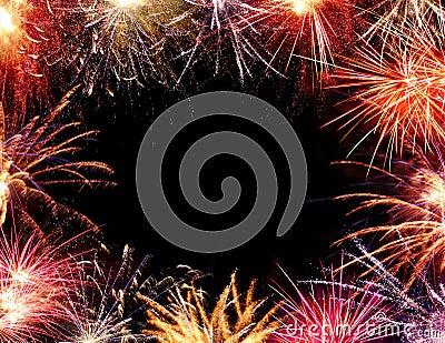 Feuerwerk-Feld
