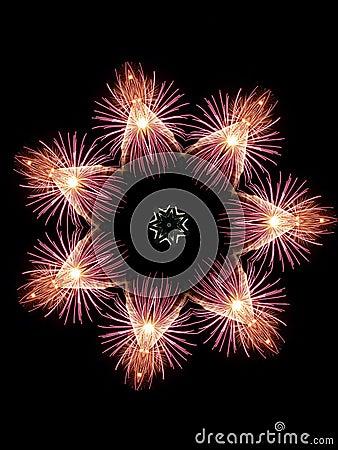 Feuerwerk-Schneeflocke