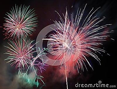 Feuerwerke des neuen Jahres