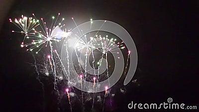 Feuerwerke feu List pyrotechnie stock video footage
