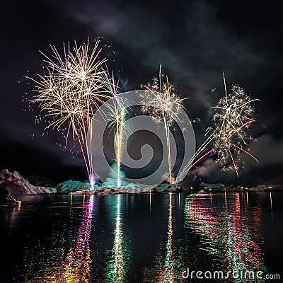 Feuerwerke in Island