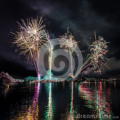 Feux d artifice en Islande