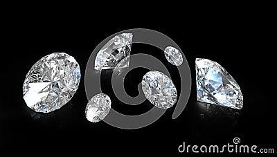 Few old european round cut diamonds