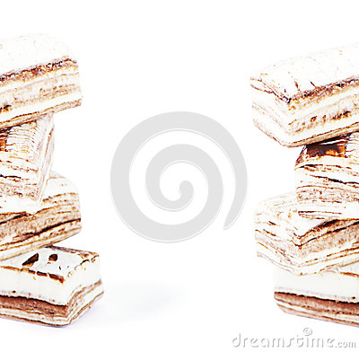 Few pieces of nougat stacked