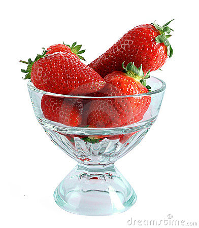 Free Few Strawberries In Glass Cup Isolated Stock Photos - 16661183
