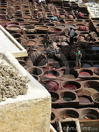 Fez, Morocco - The oldest tannery in the world Editorial Photo