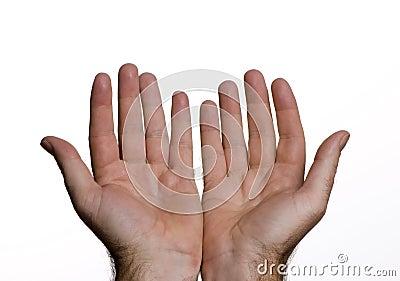 Öffnen Sie Hände