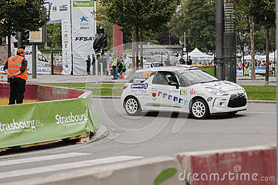 FIA World Rally Championship France 2013 - Super Special Stage 1 Editorial Photo