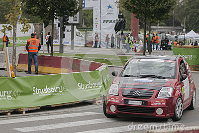 FIA World Rally Championship France 2013 - Super Special Stage 1 Editorial Stock Photo