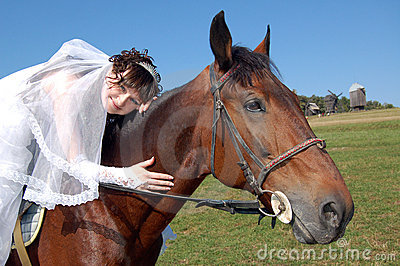 Fiancee and horse