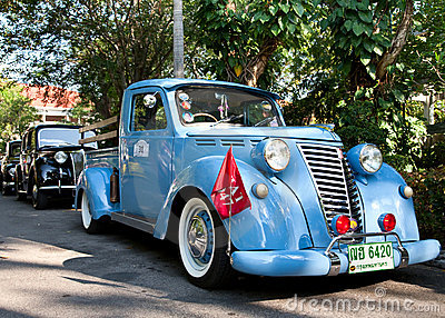 Fiat 1100 on Vintage Car Parade Editorial Photo