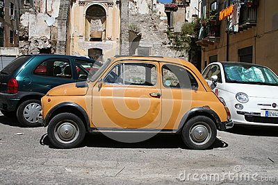 Fiat 500 in Italy Editorial Stock Image