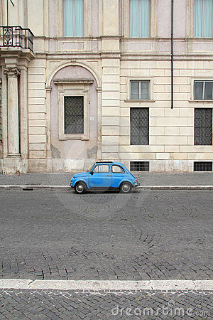 Fiat 500 in Rome Editorial Photography