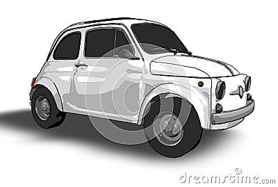 Fiat 500 (vector)