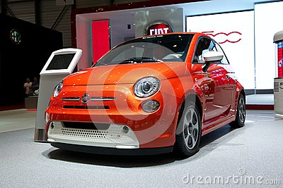 Fiat 500e 2014 Editorial Stock Photo