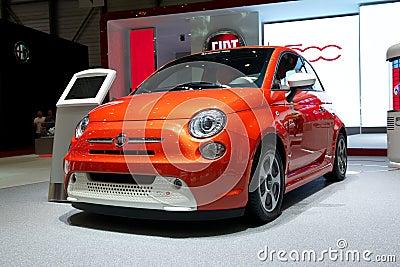 Fiat 500e 2014 Editorial Stock Photo