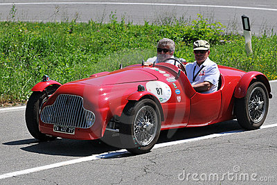 Fiat Barchetta 1949 -Vernasca Silver Flag 2011 Editorial Photography