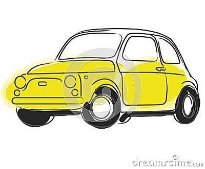 Fiat Cinquecento car vector