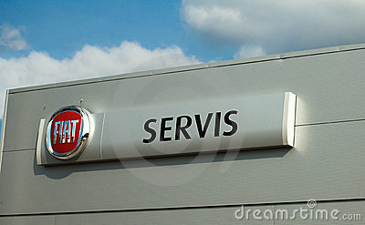 Fiat logo - servis Editorial Photo