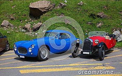 Fiat & Morgan racing cars Editorial Stock Image