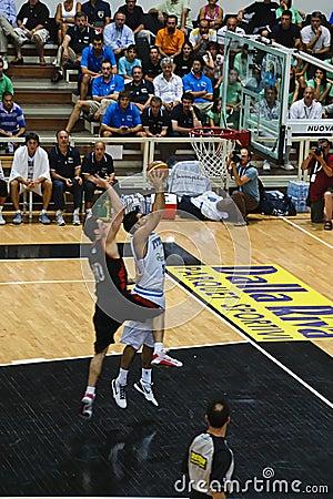 FIBA Trentino Cup: Italy vs Canada Editorial Stock Image