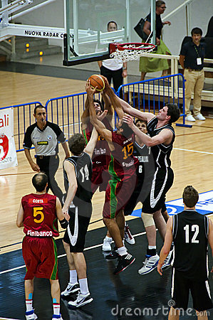 FIBA Trentino Cup: Portugal vs New Zealand Editorial Stock Image