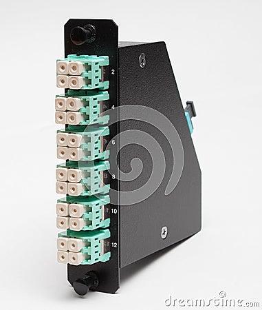 Fiber optic casette with LC connectors