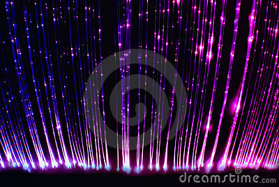 Fiber optic light cables in the light sensory room
