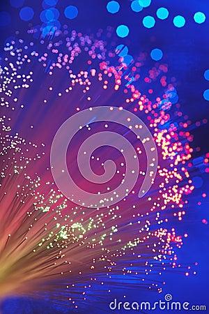 Free Fiber Optic Light Wand Close Up Royalty Free Stock Images - 30845079