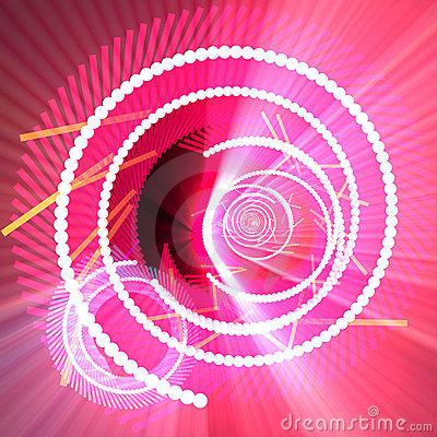 Fiber optics data spiral glowing