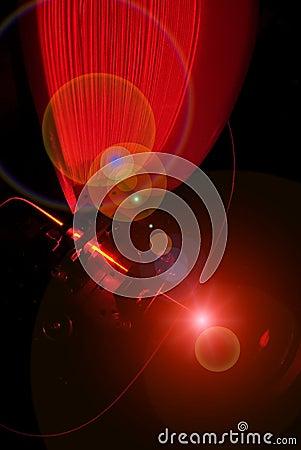 Fiber optics and laser light
