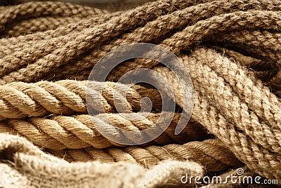 Fiber ropes closeup