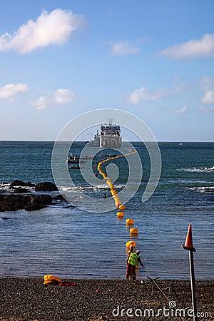 Fibre Optic cable coming ashore