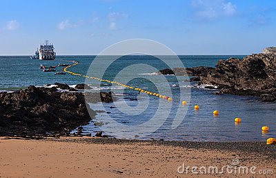 Fibre Optic cable coming ashore
