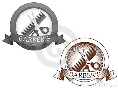 Fictional barbershop logo