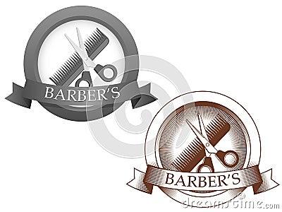 Fictional barbershop logo