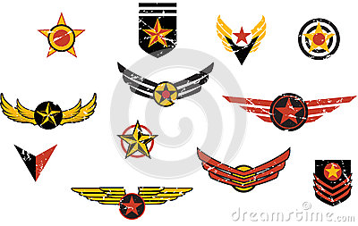Fictional military emblems stripes
