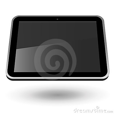Fictitious touch tablet PC 2 (horizontal view)