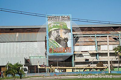 Fidel Castro billboard. Editorial Stock Image