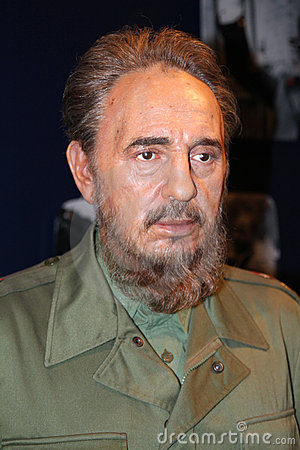 Fidel Castro at Madame Tussaud s Editorial Stock Image